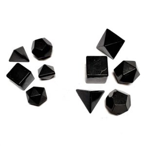 Shungite Platonic Shapes