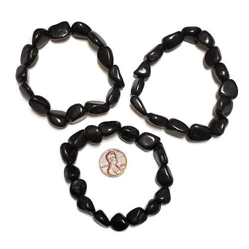 Shungite Small Tumbled Bracelet