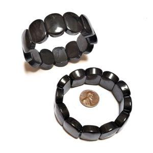 Shungite Bracelet Large Flat Ovals