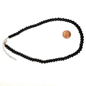 Shungite Necklace Rondelle