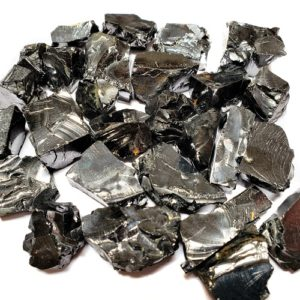 Silver Shungite Rough