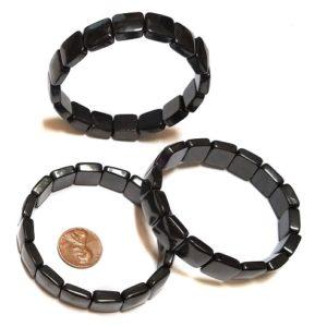 Shungite Bracelet Rounded Square