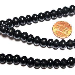 Shungite Beads Rondelles