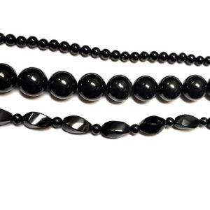 Shungite Beads from Russia