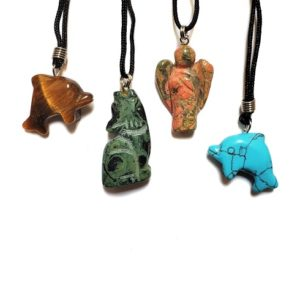 Carved Animal and Angel Necklaces