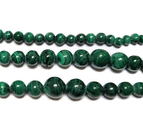 Malachite Beads Graduated