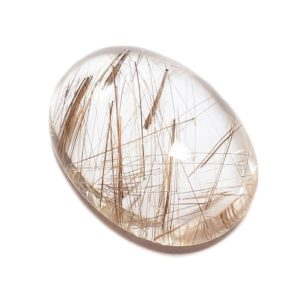 Cab2671 - Rutilated Quartz Cabochon