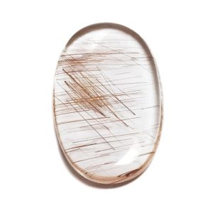 Cab2718 - Rutilated Quartz Cabochon