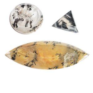 Dendritic Quartz Cabochons from Brazil