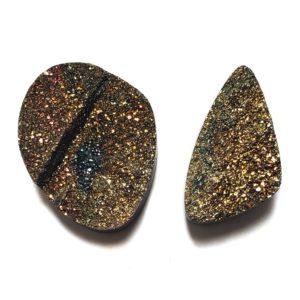 Cab1488 - Rainbow Pyrite