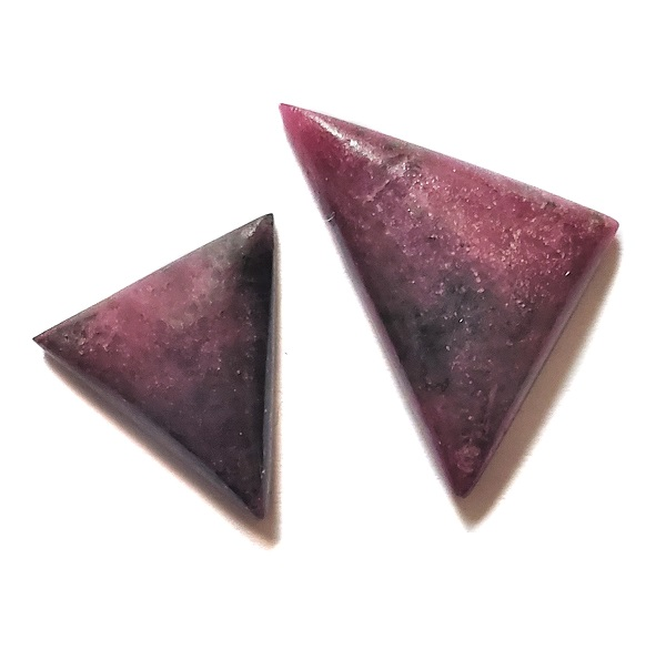 Cab2810 - Ruby With Hornblende Cabochon