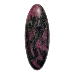 Cab345 - Ruby With Hornblende Cabochon