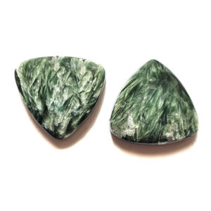 Seraphinite Cabochon Pairs from Russia