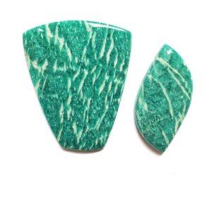 Amazonite (Perthite) Cabochons from Kola Peninsula, Russia
