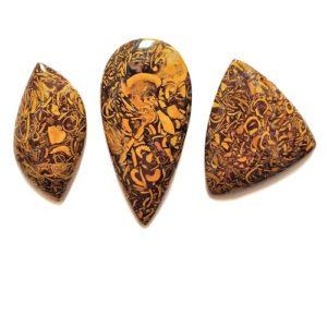 Cobra Jasper (Script Stone) Cabochons from India