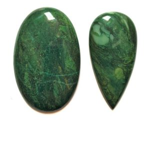 Hydrogrossular Garnet (Transvaal Jade) Cabochons from South Africa