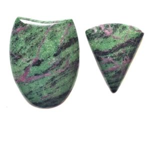 Ruby in Zoisite Cabochons from Tanzania