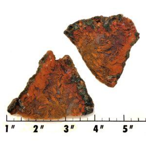 Slab1826 - Red Flame Agate Slab