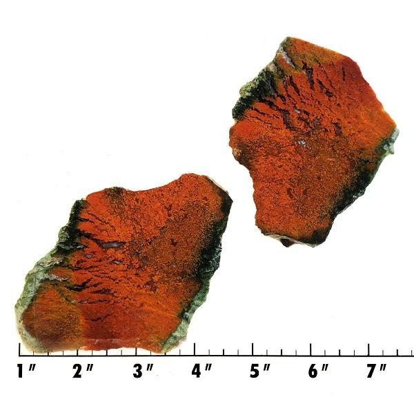 Slab1762 - Red Flame Agate Slab