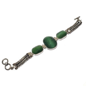 Cat's Eye Jade Bracelet 4