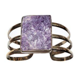 Charoite Cuff Bracelet 9