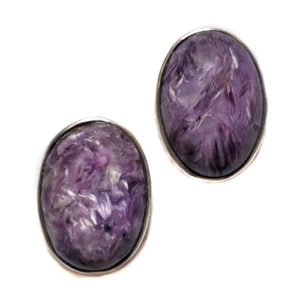 Charoite Post Earring 10