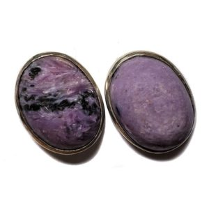 Charoite Post Earring 11