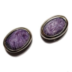 Charoite Post Earring 13