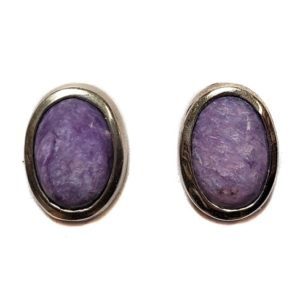 Charoite Post Earring 14