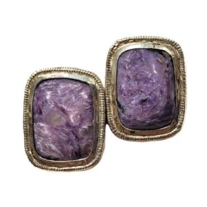 Charoite Post Earring 15