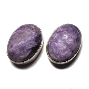 Charoite Post Earring 7