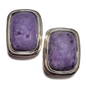 Charoite Post Earring 8