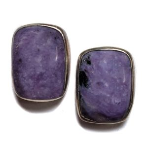 Charoite Post Earring 9