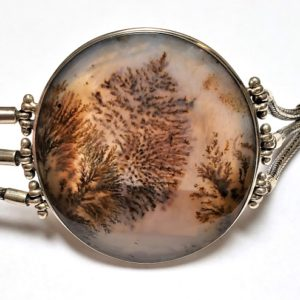 Dendritic Agate Bracelets in Sterling Silver
