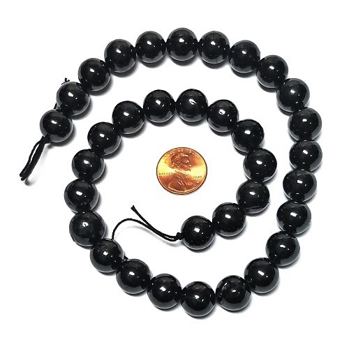 Shungite Petrovsky 12mm Round Beads