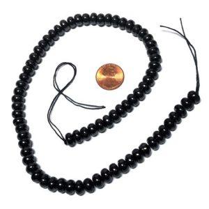 Shungite Petrovsky Rondelle Beads