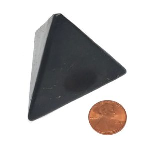 60mm Shungite Tetrahedron (3-sided) Pyramid
