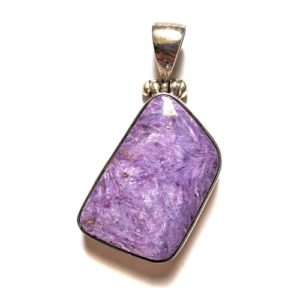 Charoite Pendant in Sterling Silver 439