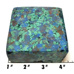 Azurite/Malachite Pressed Chip Block