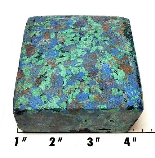 Azurite/Malachite Pressed Chip Block