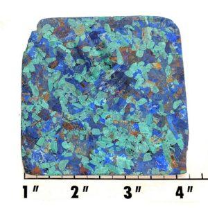 Slab404 - Azurite and Malachite Pressed Block Slab