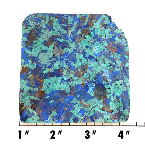 Slab402 - Azurite and Malachite Pressed Block Slab