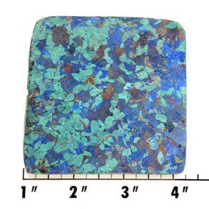 Slab408 - Azurite and Malachite Pressed Block Slab