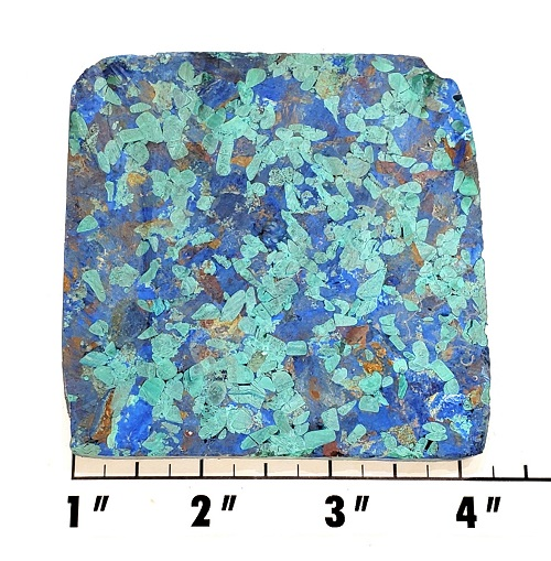 Slab413 - Azurite and Malachite Pressed Block Slab