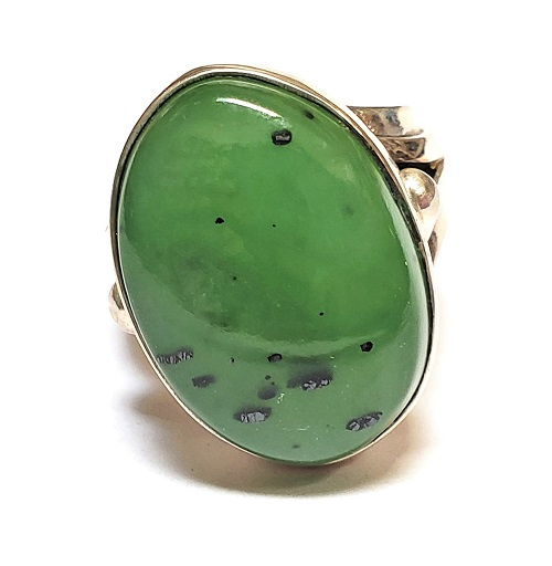 Nephrite Jade Ring #8
