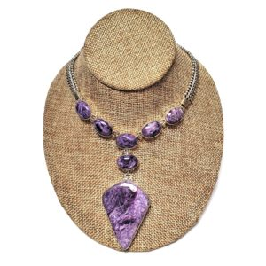 Charoite Necklace in Sterling Silver 3