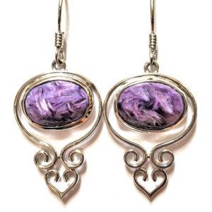 Charoite Wire Earrings 10