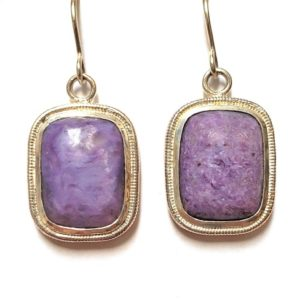 Charoite Wire Earrings 11