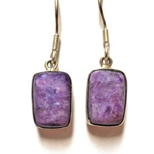 Charoite Wire Earrings 17