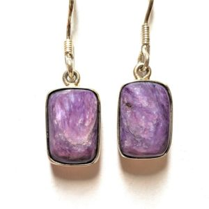 Charoite Wire Earrings 18